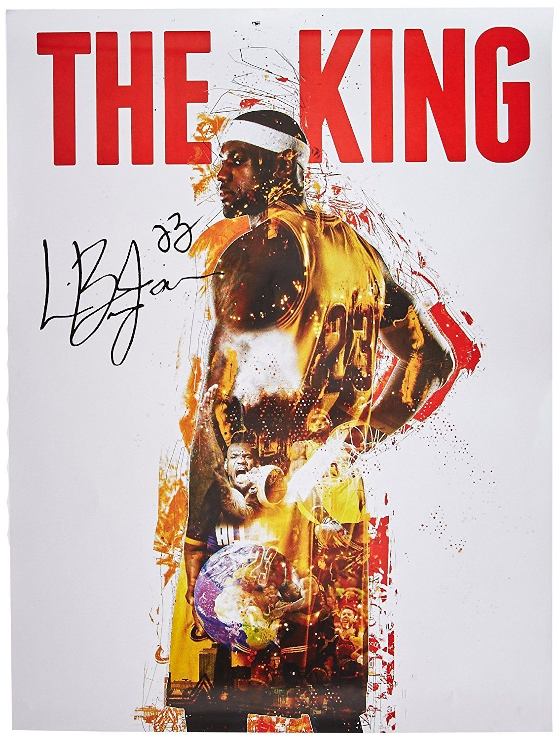 456c170f8706 The Lebron James The King Poster celebrates one of the greatest athletes of  all-time! - Officially Licensed through NBA - Measures 24x18 - Digital  Signature ...