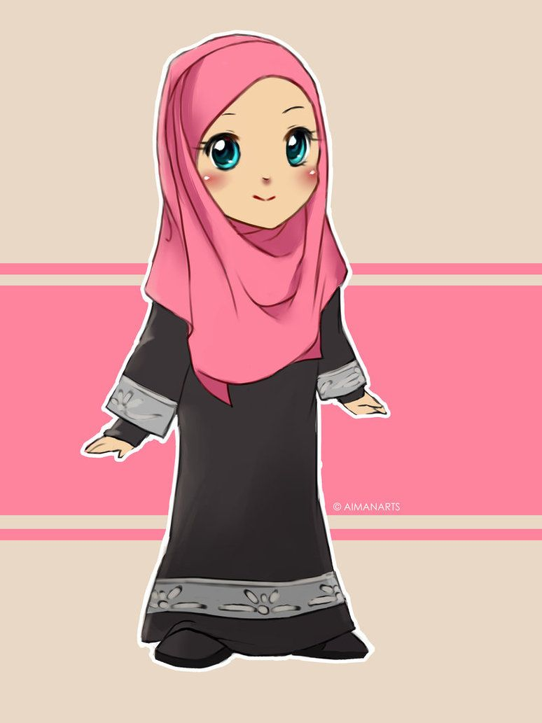 Random Muslimah 7 Islamic Cartoon Anime Muslim Hijab Cartoon
