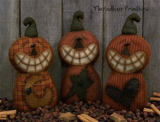Primitive Boo Gathering Ghost Ornies Paper Pattern #124