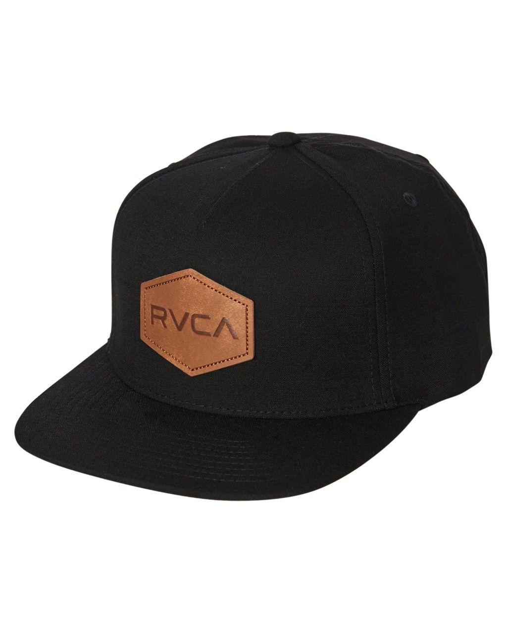88e2d6e4 Rvca Commonwealth Deluxe Snapback Cap Black Mens Accessories Other Size