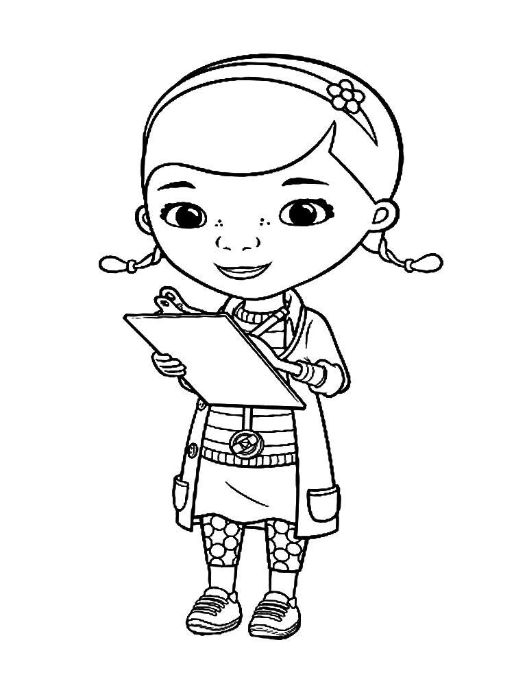 Dibujos animados para colorear - Doctora Juguetes, para niños ...