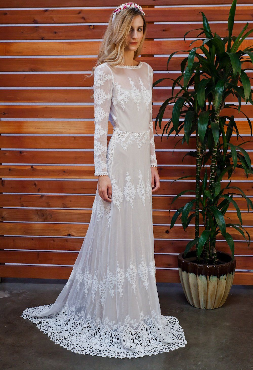 12590d65f97c4 Lisa dress, dreamers-and-lovers-boho-wedding-gown-from-cotton-mesh-lace