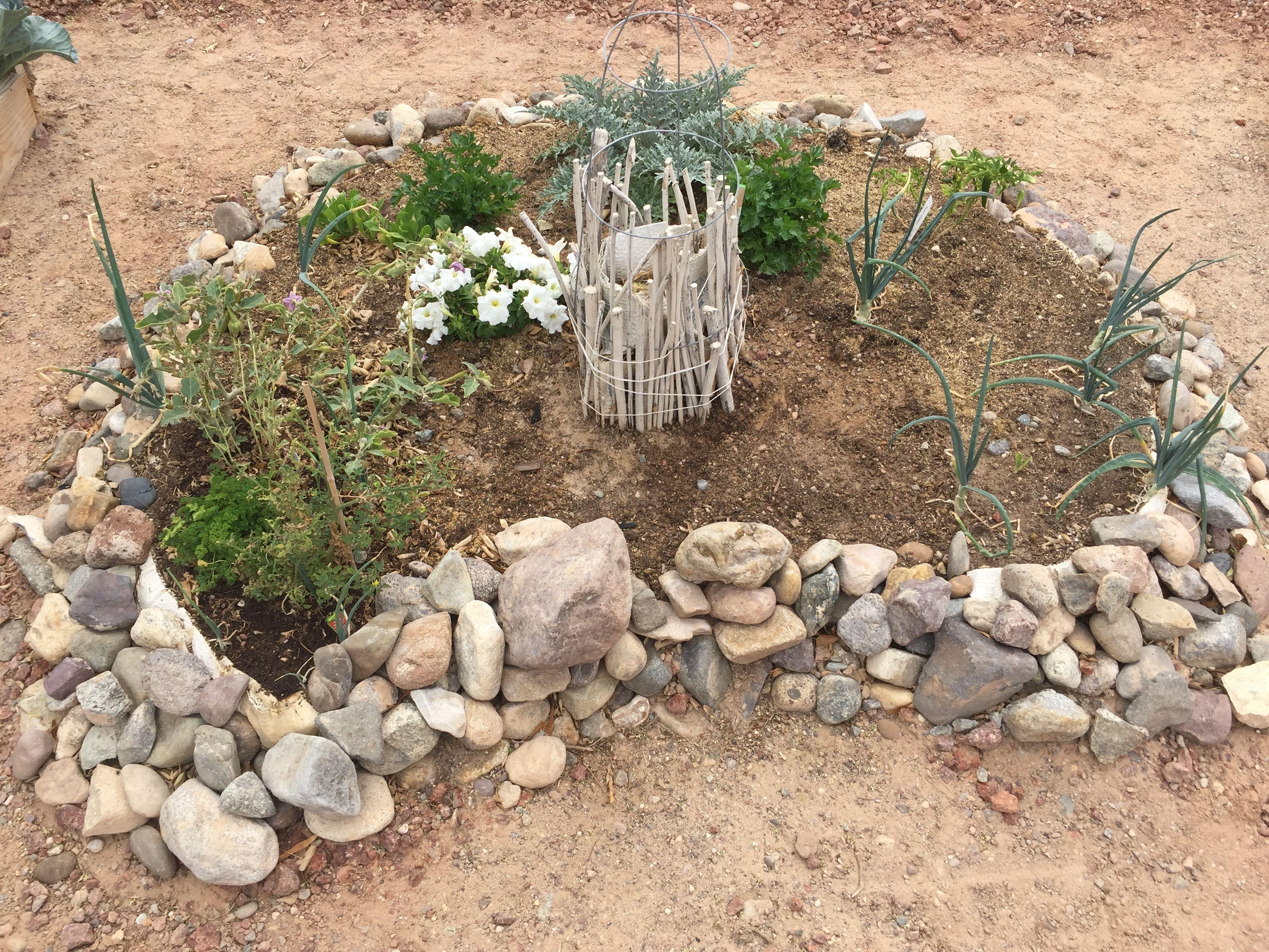 Keyhole garden | East of Mojave | Pinterest