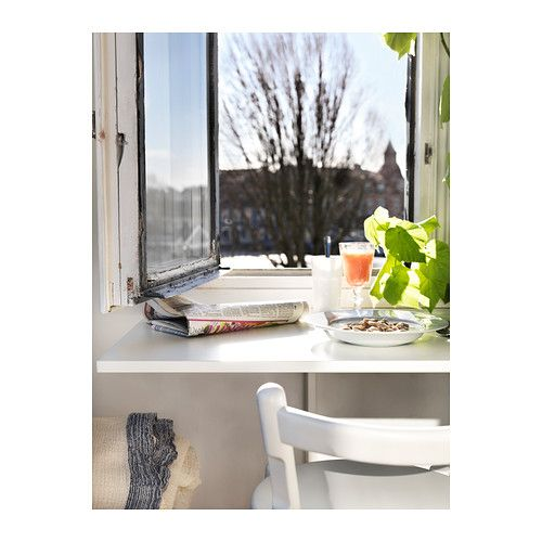 Wandklapptisch ikea  NORBERG Wall-mounted drop-leaf table, white | Drop leaf table ...