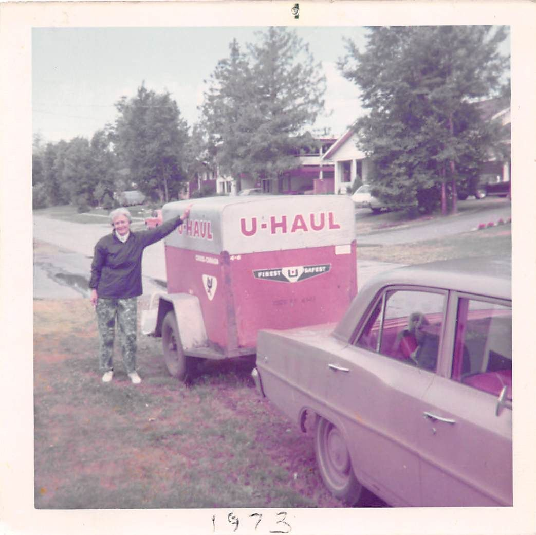 A look at #uhaul towing 42 years ago! | Trailers and ...