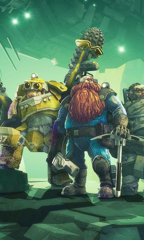 Video Game Deep Rock Galactic Warriors X Wallpaper