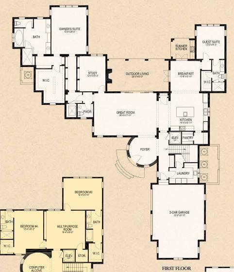 Pontevedra Floor Plan 1st Floor Lot 11 Marceline Golden Oak Courtyard House Plans Floor Plans House Plans