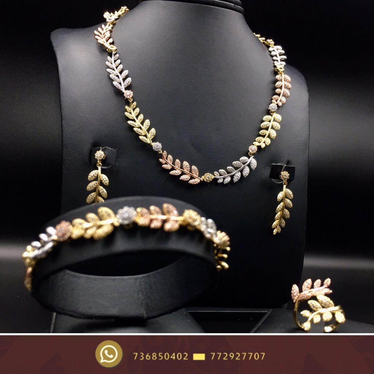 طقم نسائي اطقم اكسورات زركون فضة جديد صنعاء هداياء Jewelry Pearl Necklace Necklace