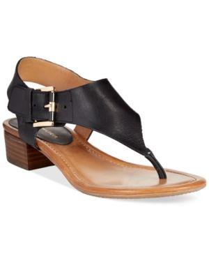 c1c05bc2e61 Tommy Hilfiger Kitty Block Heel Sandals - Black 11M