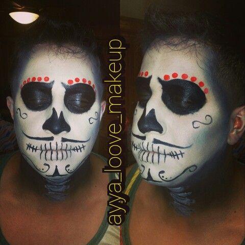 sugarskull men dia de los muertos mexican traditions halloween2014 halloween makeup