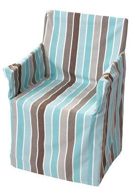chair covers gladstone fold out bed uk director aqua tan brown blue stripe bnwt garden