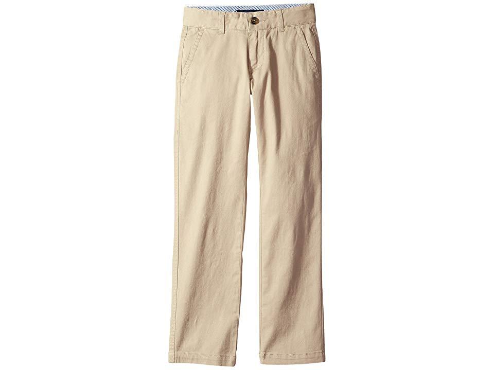Tommy Hilfiger Kids Academy Pants Big Kids Travel Khaki Boys Casual Pants Dress him to impress in the Tommy Hilfiger Kids Academy Pant Soft stretchcotton twill in neutral...