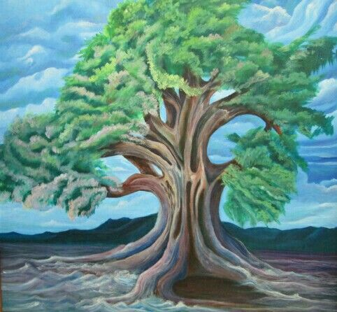 An interpretive view of the tree of life.