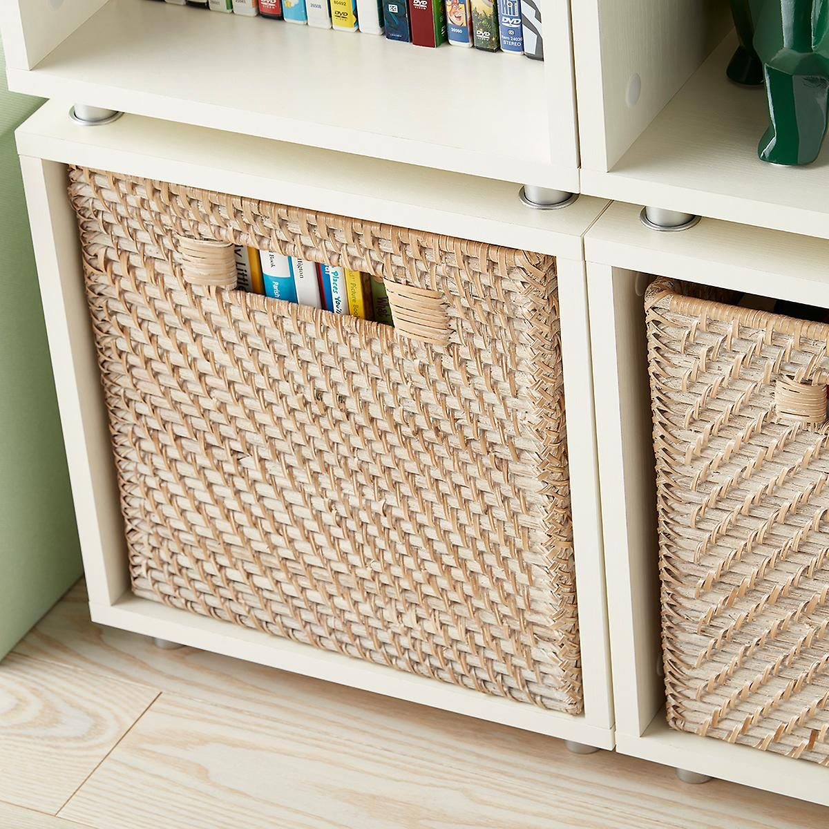 Whitewash Rattan Storage Cube With Handles Cube Storage Fabric Storage Cubes Toy Storage Cubes