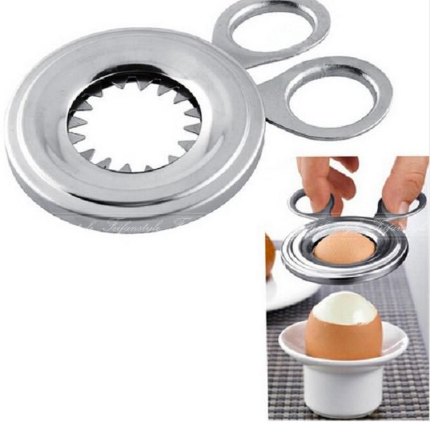 1Pc Durable Convenient Stainless Steel Boiled Egg Shell