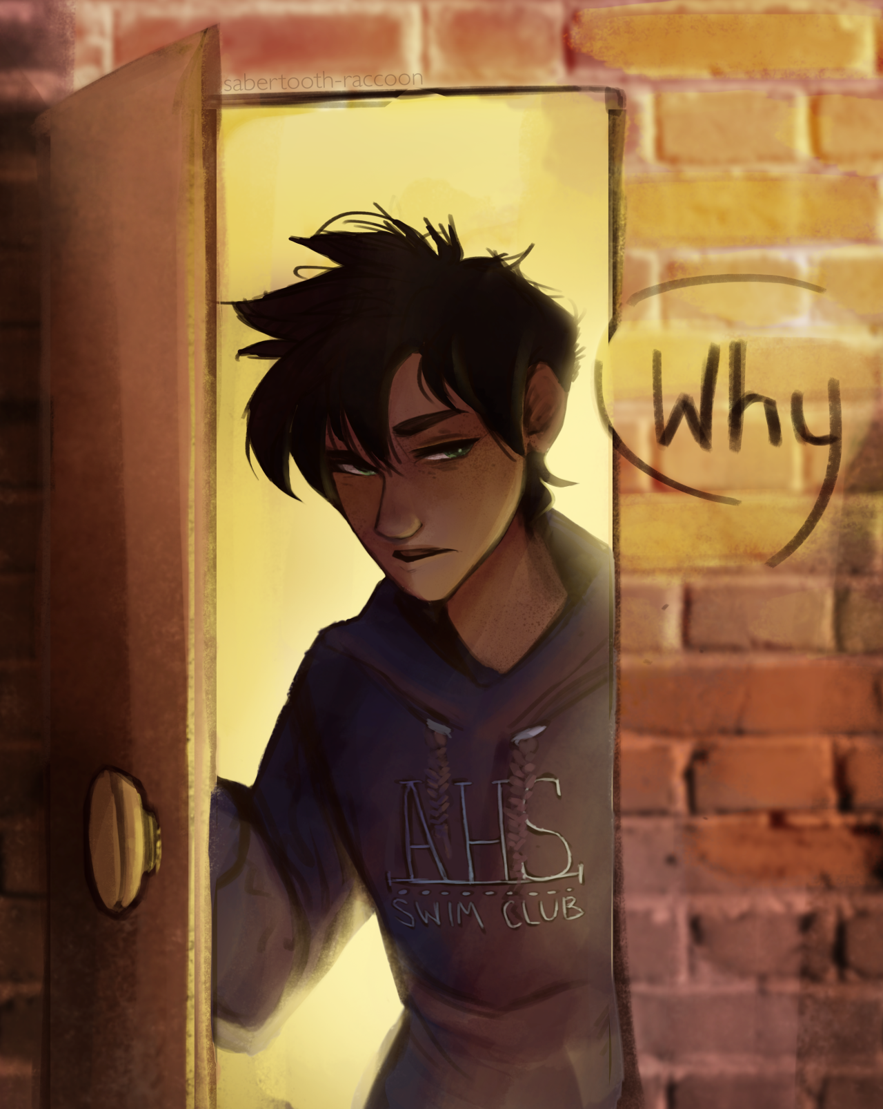 """""""Why?"""" This is a legendary moment in the Percy Jackson fandom.I've seen so many other people draw this scene already, but I had to join the party. Everyone should just draw their own version of this in a reblog.Let's keep this train going. TRIALS OF APOLLO, EVERYONE. WHO'S PUMPED?? 