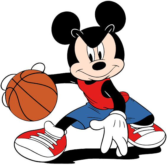 Mickey Mouse playing basketball clip art #mickeymouse | Dessin ...