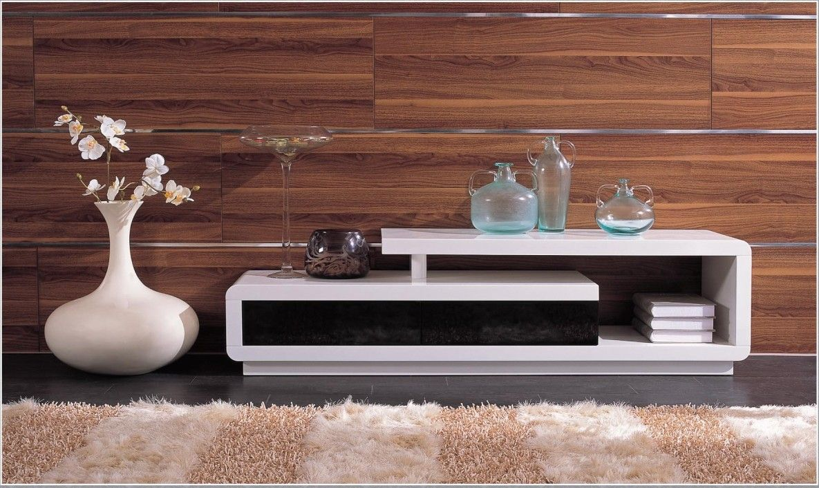 d3033 modern white lacquer tv stand - entertainment center