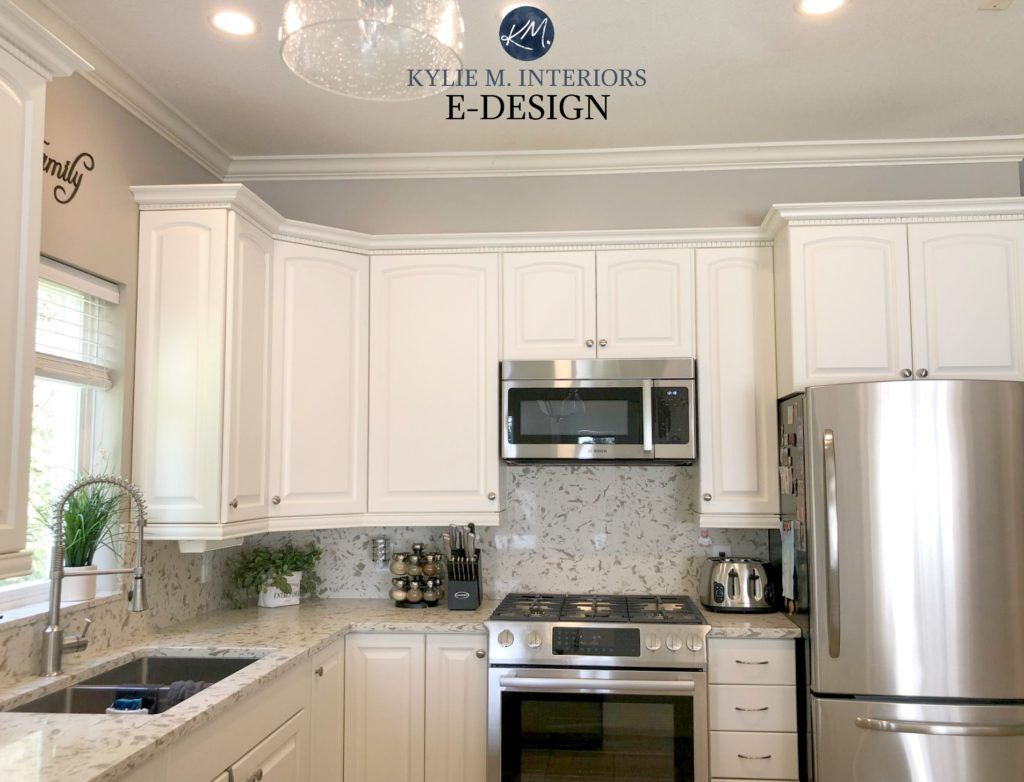 E Design An Oak Cabinet Makeover With White Dove Painting Kitchen Cabinets Kitchen Cabinet Colors Kitchen Colors