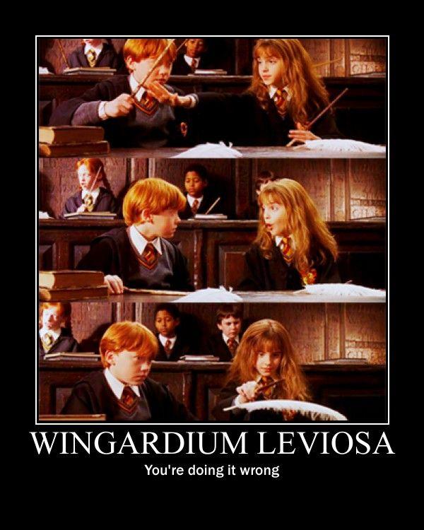 Wingardium Leviosa Spell Funny Medley Harry James Potter Harry Potter Hermione Harry Potter Facts