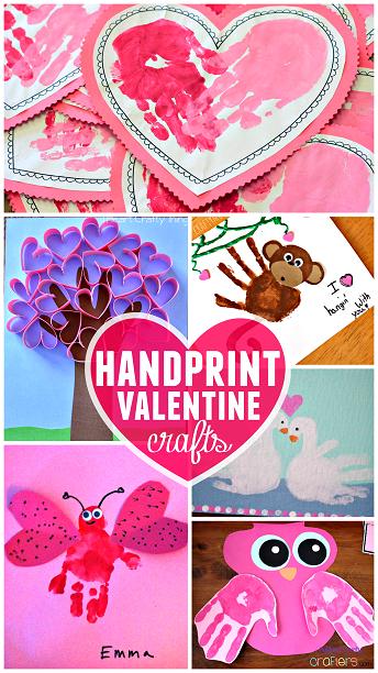 Handprint Valentine Crafts For Kids Crafts With The Girls
