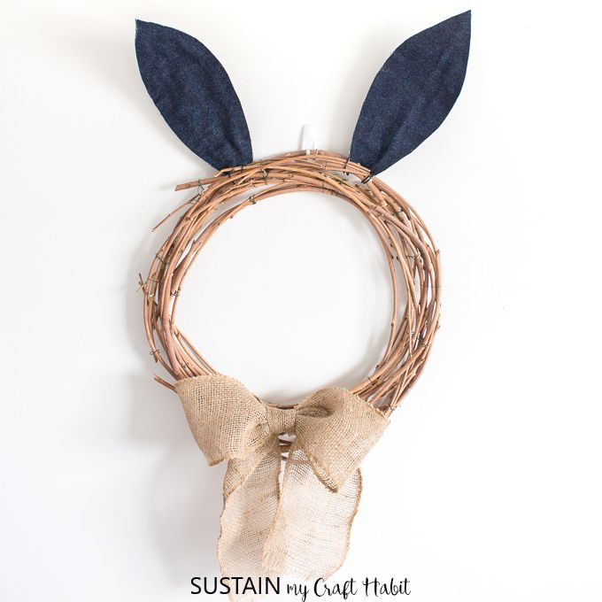 Photo of DIY Easter Bunny Wreath