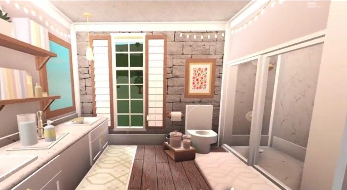 Aesthetic Bloxburg Bathroom In 2021 House Inspo Building A House House