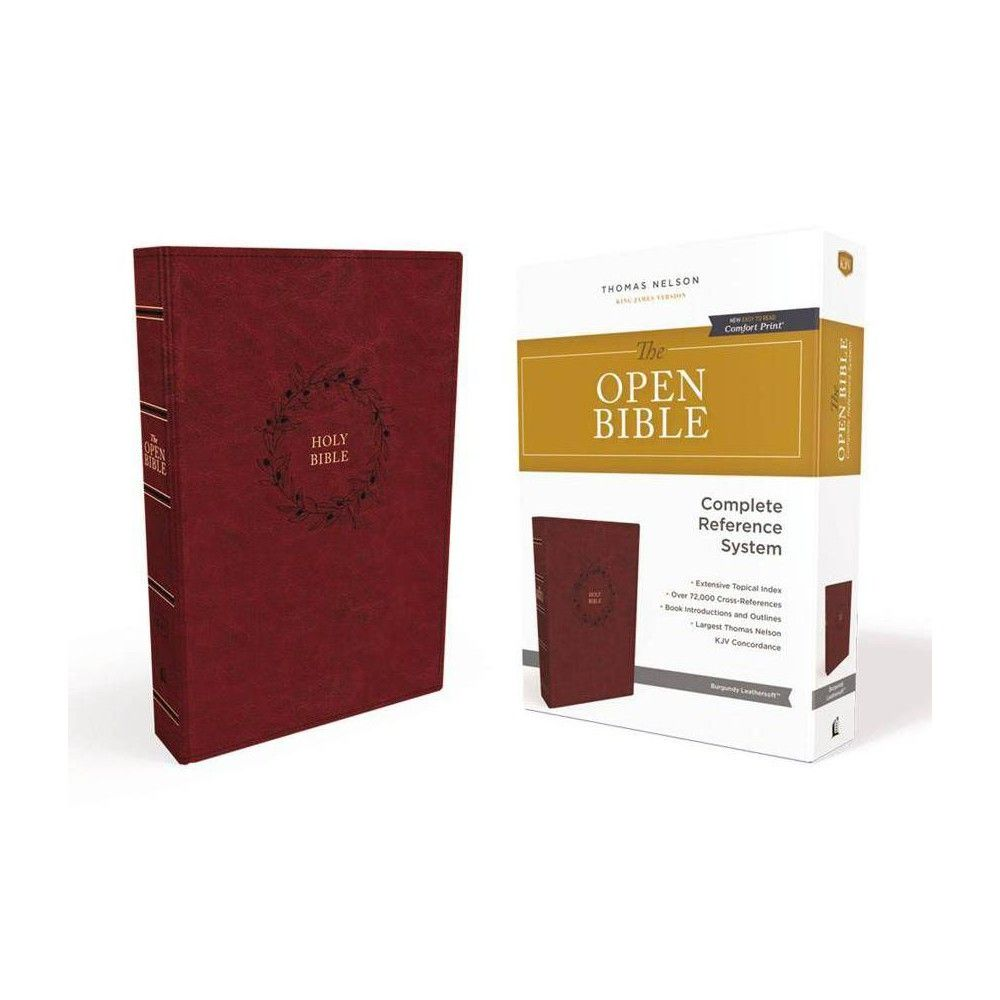The Kjv Open Bible Leathersoft Burgundy Indexed Red Letter