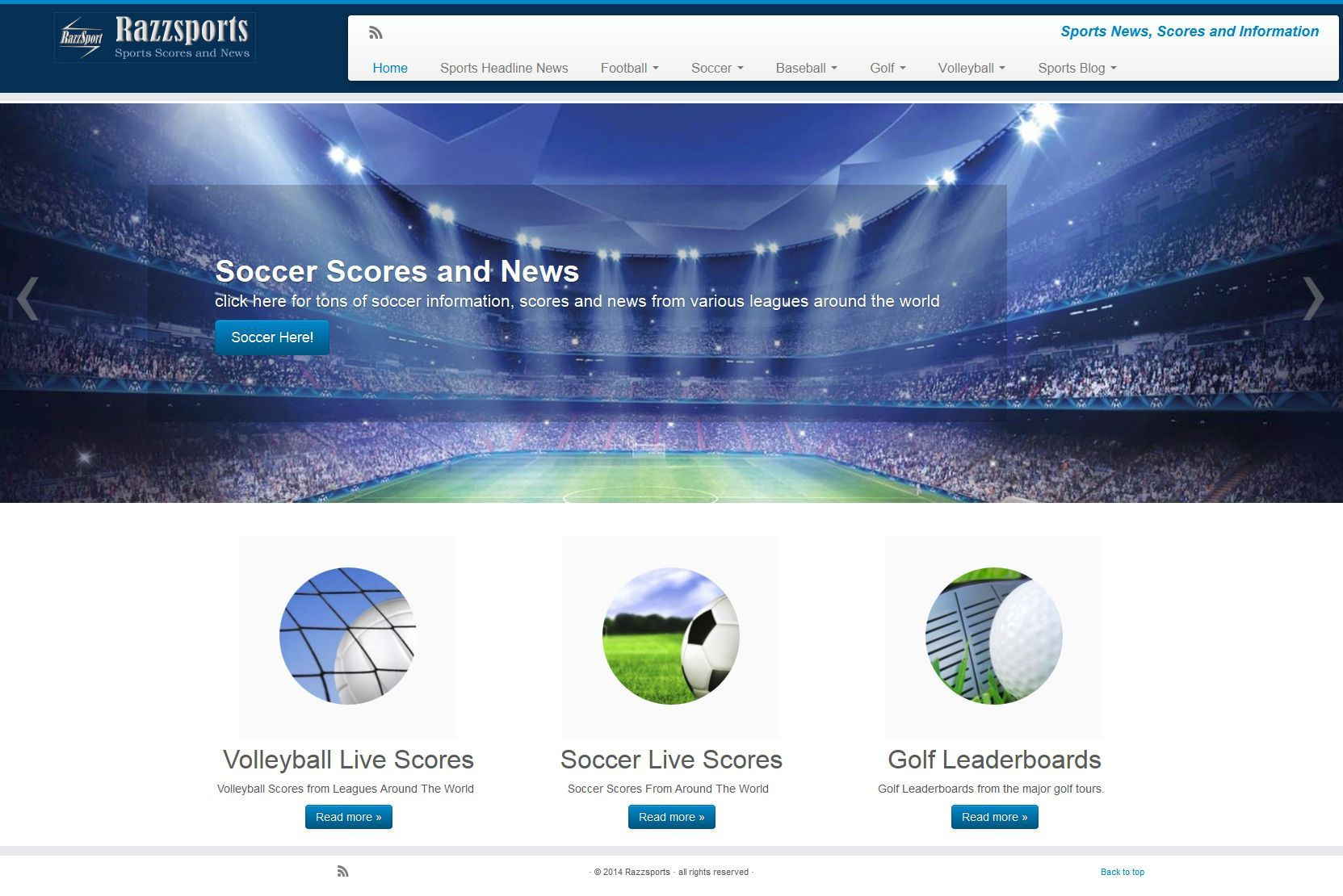 sports based website Soccer scores