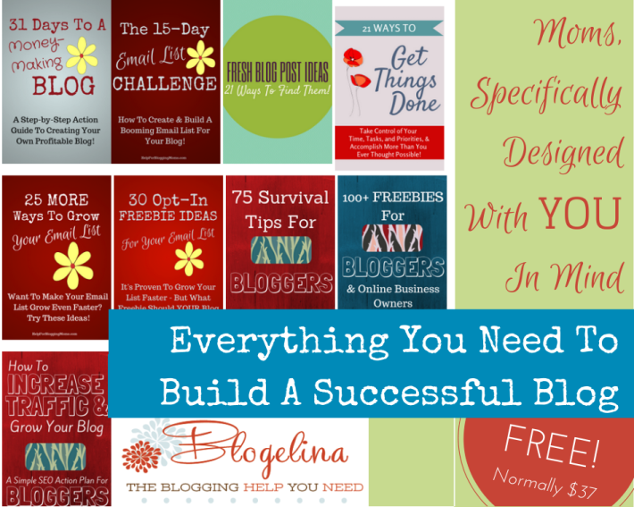 An Amazing FREE Gift For Blogging Moms This Mother's Day! Everything you need to build a successful blog eBook bundle! http://www.blogelina.com/have-you-ever-dreamed-of-having-your-own-money-making-blog/?ap_id=LivNaturalMag