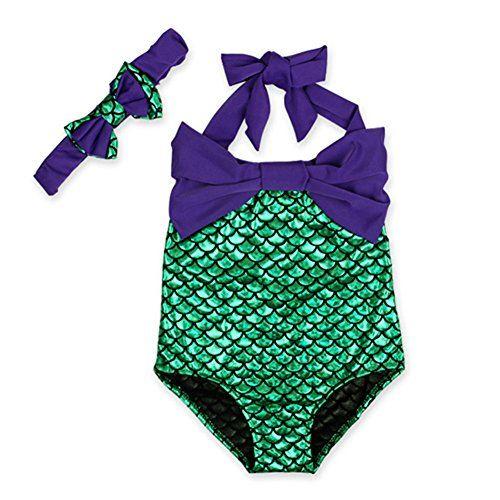 Toddler Kids Baby Girls Mermaid Bikini Set Swimwear Swimsuit Bathing Suit Beach