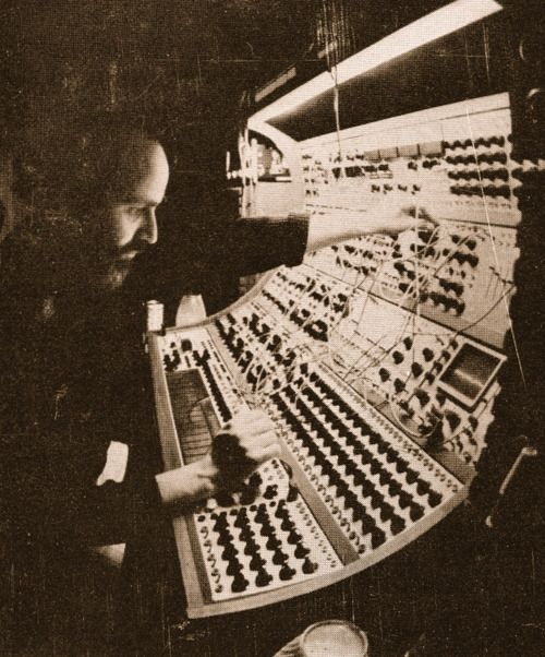 Morton Subotnick. Buchla 200. From the back cover of Until Spring. 1976.