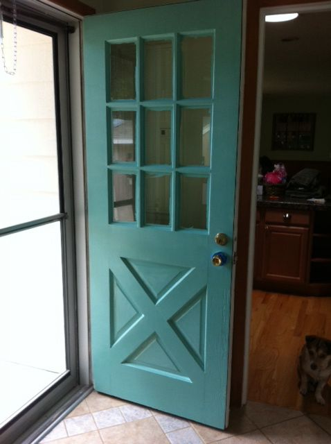 I just painted my back door blue (hey, that sounds like a Country ...