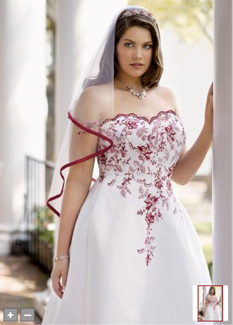 I Love Red On Dresses And Vails Davids Bridal Wedding Dresses Red Wedding Dresses Plus Size Wedding Gowns