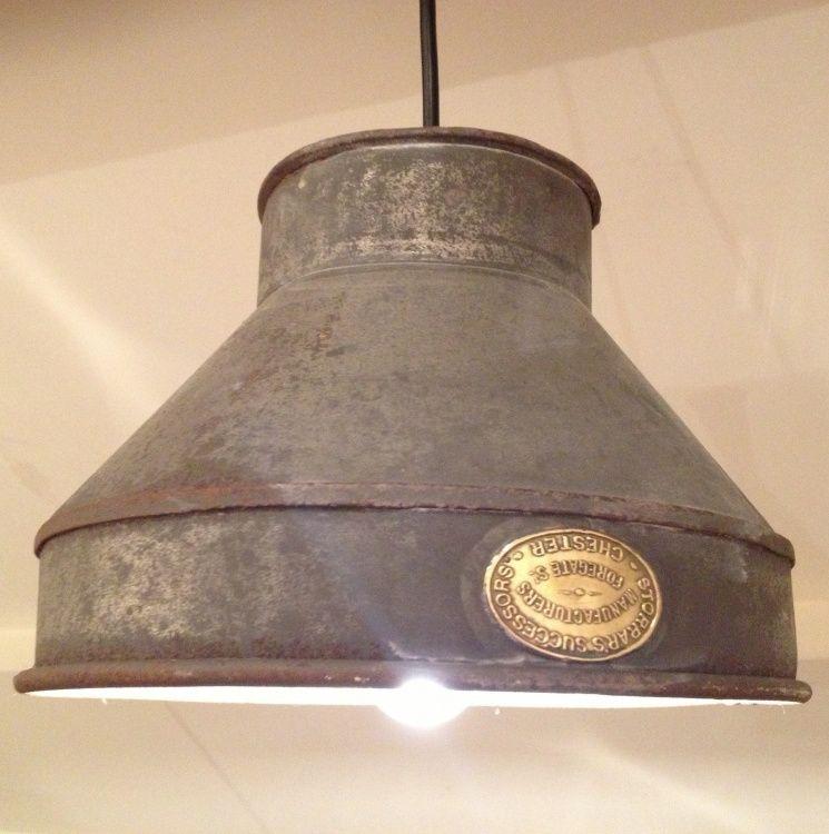Instant Vintage Hanging Lamp: Rustic Milk Sieve Hanging