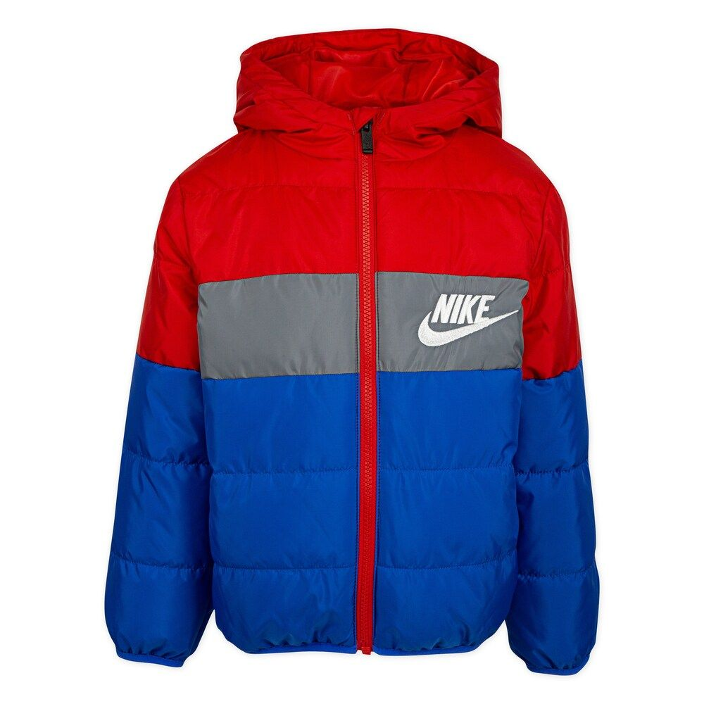 Boys 4 7 Nike Colorblock Logo Puffer Jacket Jackets Puffer Jackets Puffer [ 1000 x 1000 Pixel ]