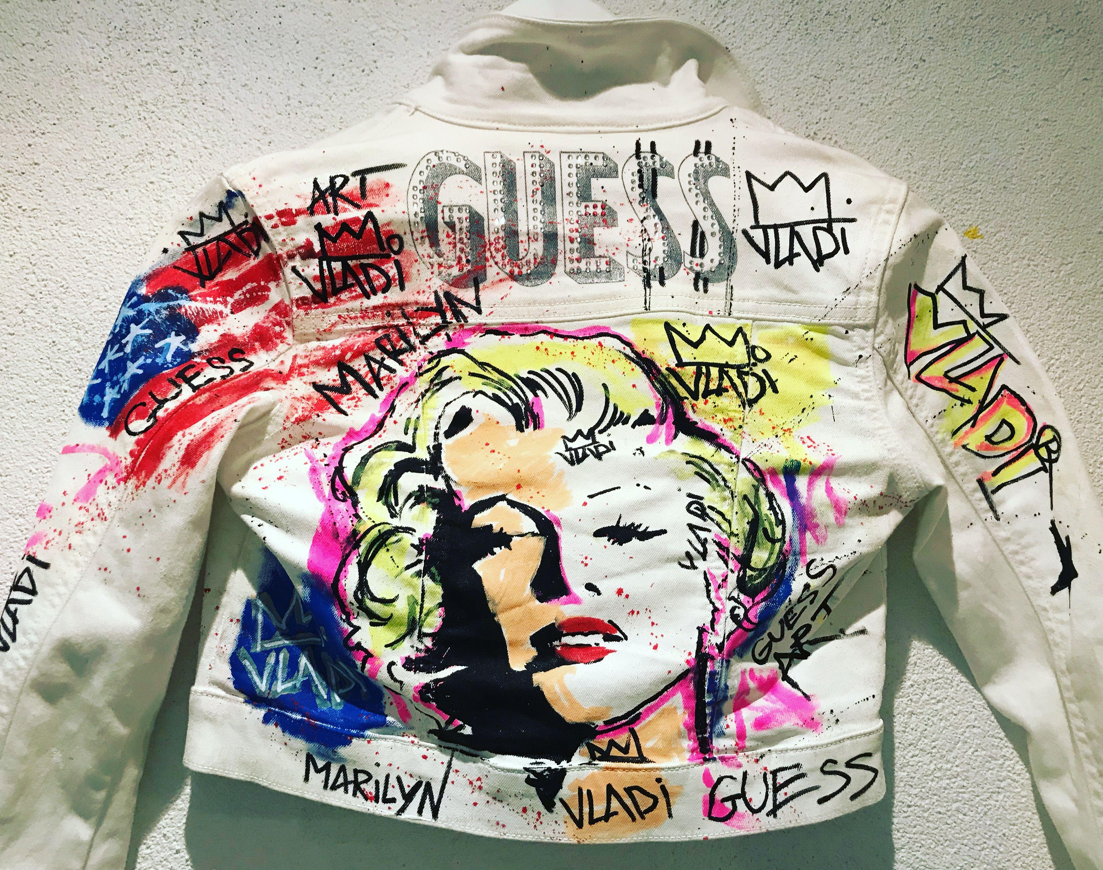 Marilyn Monroe Guess Artvladi Guess Artvladi Fashion Fashionart Fashionstyle Art Popart Jeans Painted Jacket Outerwear Jackets Fashion [ 3021 x 3827 Pixel ]