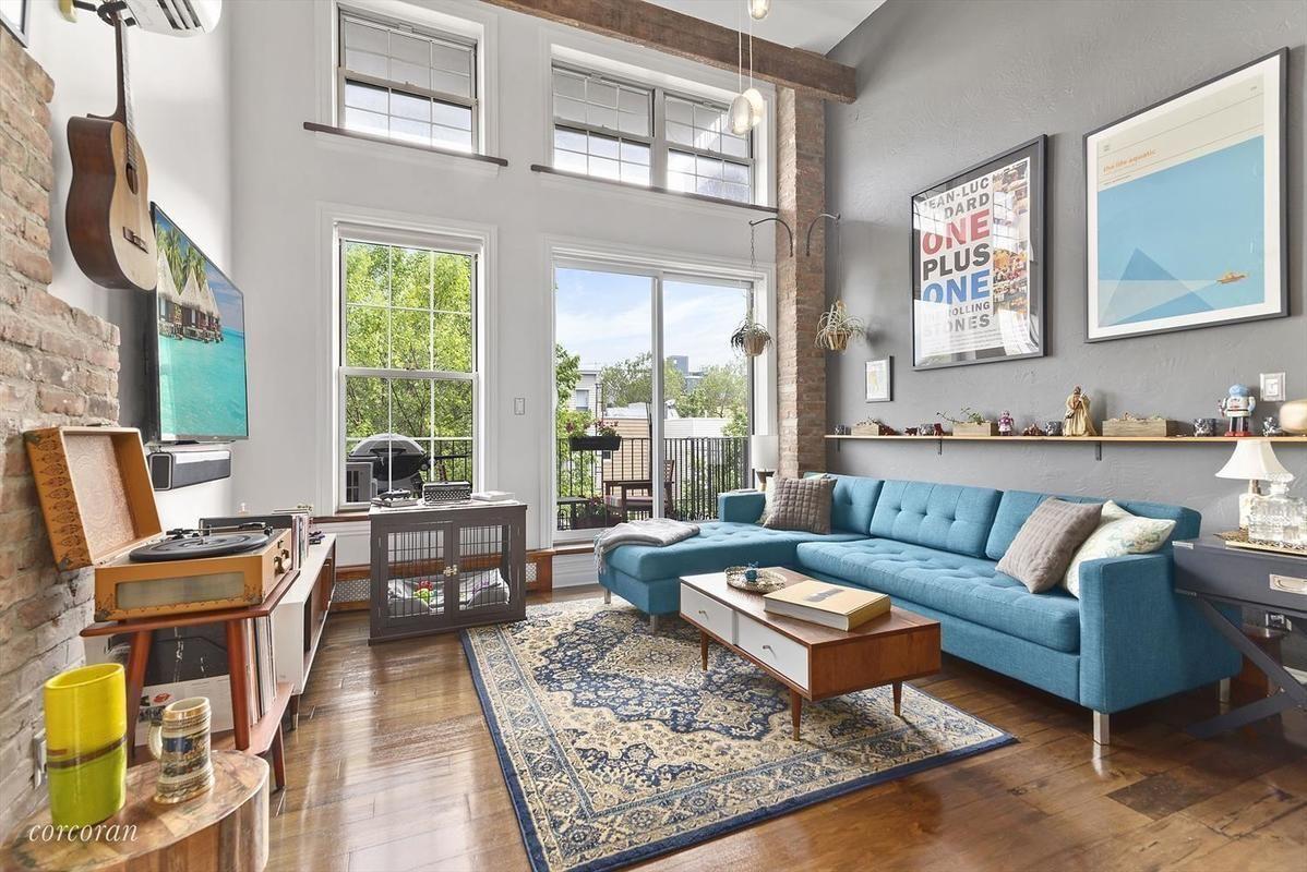 New York City ~ Brooklyn | Living room, Apartment 3B, 37 ...