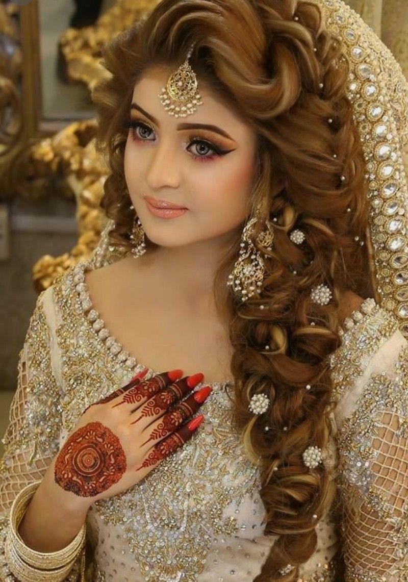 Nice Looking Pakistani Bridal Hairstyles Pakistani Wedding Hairstyles Indian Bridal Hairstyles