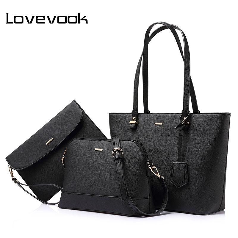 Aliexpress Lovevook Brand 3 Sets Handbag Women Composite Bag Female Large Capacity Tote Fashion Shoulder Crossbody Small Purse From