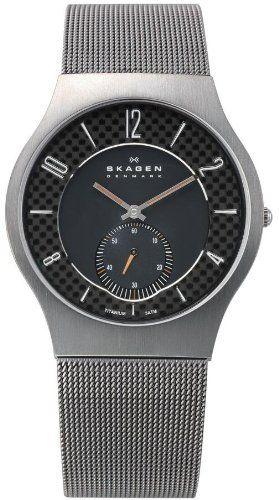 Skagen Black Checkered Dial Titanium Mens Watch 805XLTTM1 Skagen. $81.49. Water Resistance : 3 ATM / 30 meters / 100 feet. Analog Display. Steel Bracelet Strap. Save 46%!