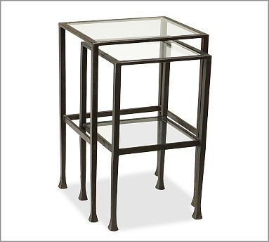 Tanner Nesting End Tables Nesting End Tables Glass End Tables