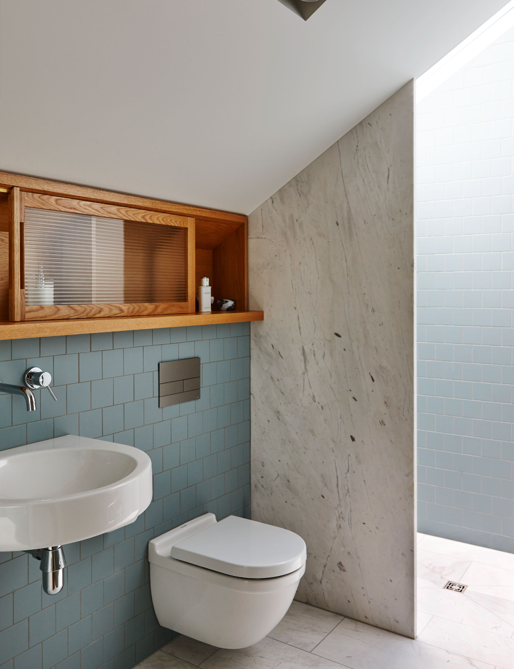 how a small bathroom was squeezed under the eaves of a on bathroom renovation ideas nz id=63829