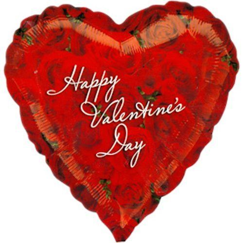 Red Photographic Roses Happy Valentine S Day Balloon Rose And Products
