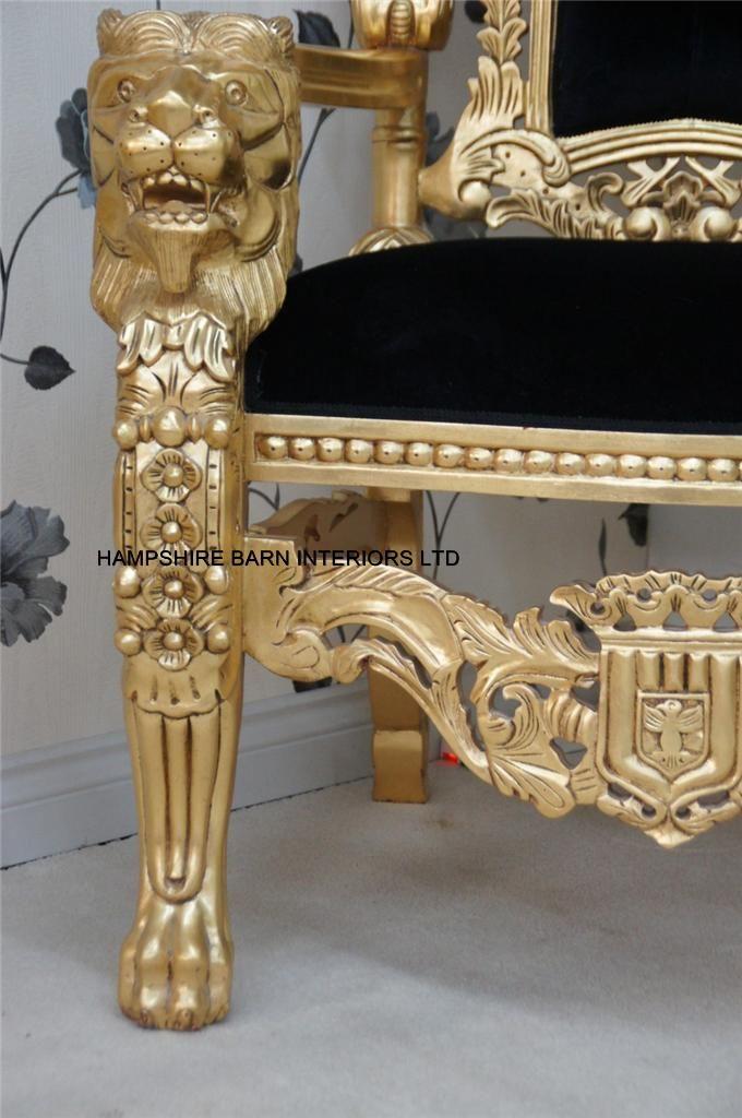 Detail Lion King Throne Chair
