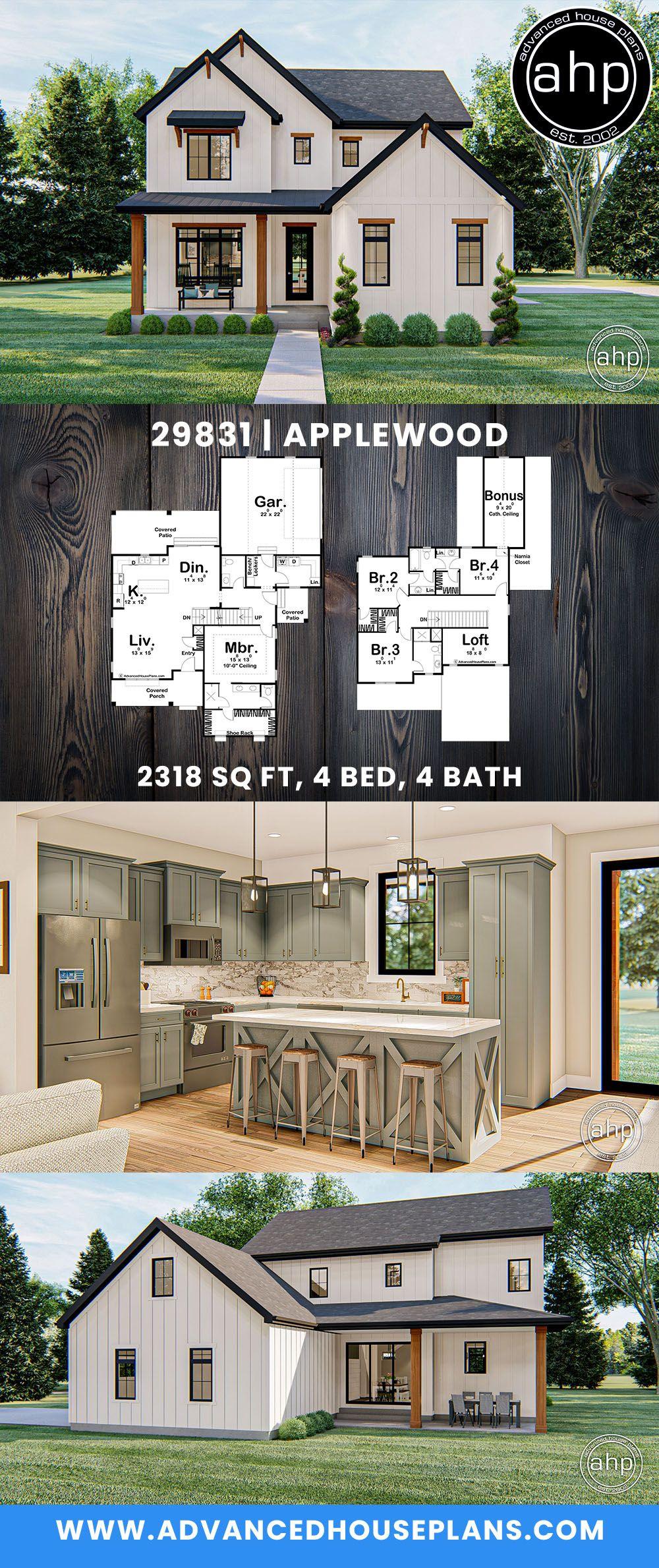 1 5 Story Modern Farmhouse Style House Plan