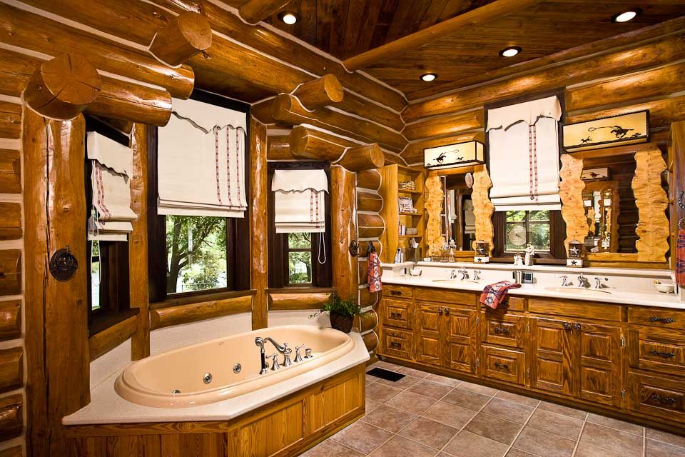 bathroom designs by rocky mountain log homes - Bathroom Ideas Log Homes