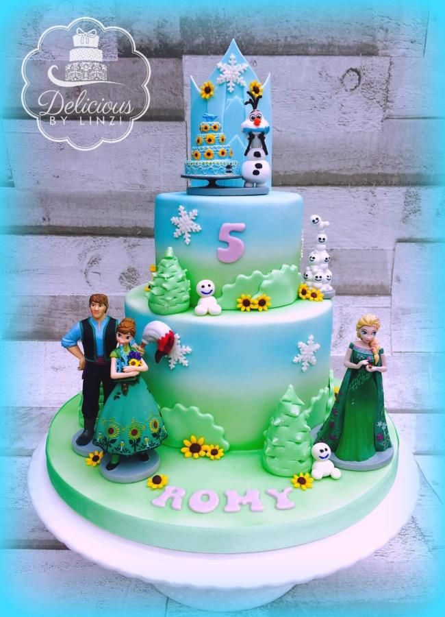 Frozen Fever Inspired Cake Cake By Delicious By Linzi Frozen