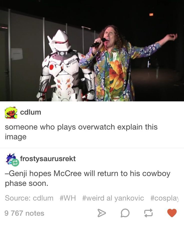 Overwatch Genji And McCree Tumblr Post (origin: Weird Al