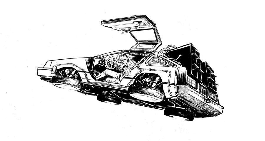Delorean By J Wrig On Deviantart Back To The Future Tattoo Delorean Delorean Time Machine